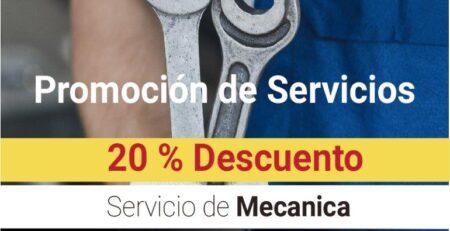 20% Descuento Servicio de Mecánica