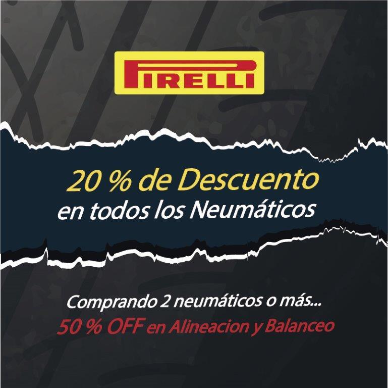 promoción Pirelli 20%