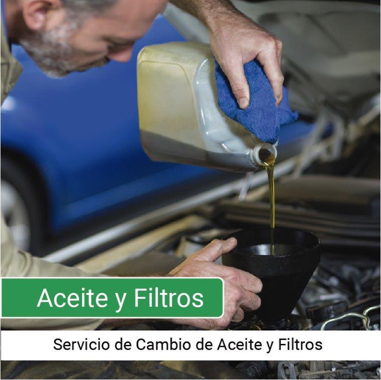 Servicio Cambio de Aceite y Filtro